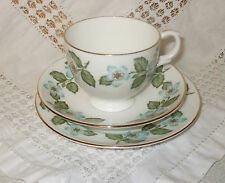 VINTAGE CROWN STAFFORDSHIRE EASTER GLORY  CUP SAUCER & PLATE TRIO