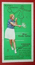 Women's Tennis Technique  Forehand Volley  Freda James    Original 1930's Card