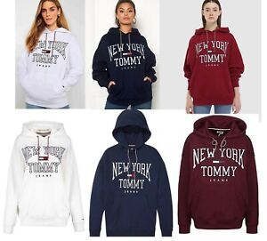 Tommy Hilfiger Women Girl Cotton Fleece Hoodie Sweatshirt Jumper Top 10 12 14 16