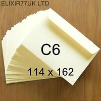 C6 A6 100gsm IVORY ENVELOPES CARDS PAPER INVITATIONS WEDDINGS SMALL CRAFT MAKING