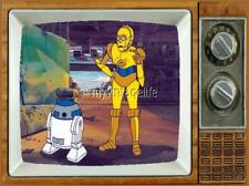 "STAR WARS CARTOON Fridge MAGNET 2"" x 3"" art SATURDAY MORNING CARTOONS R2D2 C3PO"