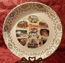 "9"" Missouri State Souvenir Plate Old Matt's Cabin Mark Twain Truman Library"