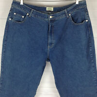 St. John's Bay Women's Plus Sz W20 Stretch Blue Medium Wash Tapered Denim Jeans