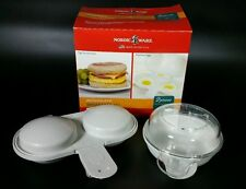 NEW Nordic Ware Microwave Breakfast Set Eggs n' Muffin Pan Egg Poacher USA