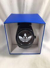 NEW Adidas Originals Santiago Black Silicone Watch ADH2653