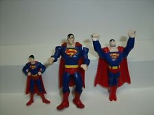 SUPERMAN FIGURE Burger King McDonald's kids happy meal toys 2011 DC Comics 3 PC