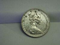 1966 Elizabeth 2 Bahamas Islands Twenty Five Cents Coin