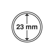 Capsules rondes 23mm, pour pièces de 1 euro. Paquet de 10.