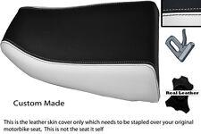 WHITE & BLACK CUSTOM FITS KAWASAKI NINJA ZX6R 600 95-97 REAR SEAT COVER