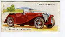 (Jr135-100) Players,Motor Cars 2nd,M.G Midget T Two-Seater,1937 #31
