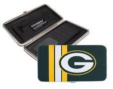 Green Bay Packers Ladies Mesh Hard Shell Wallet NFL