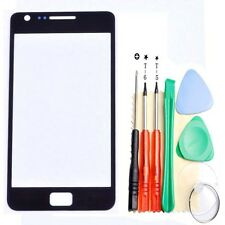 Black For Samsung Galaxy S2 i9100 Outer Screen Lens Glass Replacement + Tools