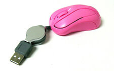#B Mini Retractable USB Optical Scroll Wheel pink Mouse for PC Laptop/Noteboo​k