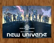 NEW UNIVERSE Marvel Comics Promotional Poster 1986 Promo
