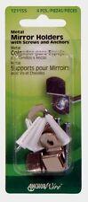 New! Hillman AnchorWire 1.1 oz. Metal Mirror Holder Kit 4 pk 121155