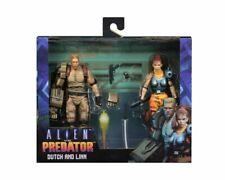 Alien vs Predator Dutch and Lin 2-Pack 1994 Retro Arcade Video Game Figur NECA