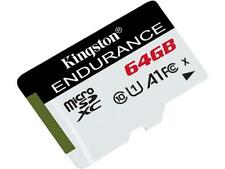 Kingston High Endurance 64GB microSDXC Flash Memory 95R/30W Class 10 A1 UHS-I