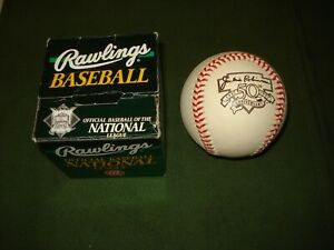 1997 JACKIE ROBINSON NATIONAL LEAGUE COMMEMORATIVE BASEBALL w/ BOX, BROOKLYN