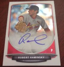 2013 BOWMAN CHROME DRAFT ROBERT KAMINSKY AUTO
