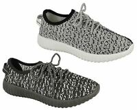 Ladies Womens New Textile Lace Up Tone Up Gym Running Trainers Shoes Size 3-8