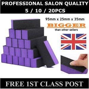 UK Professional Purple Nail Buffer File Salon Quality Buffing Sanding Block