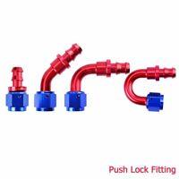 Push Lock Hose Fitting Adapter for Oil/Air/Fuel Line Hose 4AN 6AN 8AN 10AN 12AN