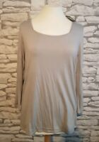 JAEGER SIZE L 14/16 uk GREY T SHIRT TOP 3/4 sleeve women's lady new bnwt rrp £99