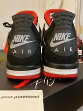 Air Jordan 4 Retro 'Bred' Size 12.5 Black Fire Red Cement Grey 308497 060