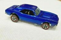 HOT WHEELS VINTAGE ORIGINAL REDLINE 1967 CUSTOM CAMARO U.S. BLUE