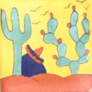 C#108) MEXICAN TILES CERAMIC HAND MADE SPANISH INFLUENCE TALAVERA MOSAIC ART