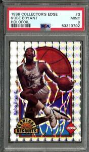 1996 Collectors Edge Kobe Bryant RC Rookie Holofoil /2500 PSA 9 Mint #3 POP 24