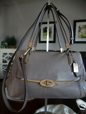 COACH 25169 MADISON MADELINE TWO WAY LEATHER BAG GREY BIRCH