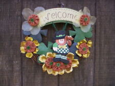 Spring wreath/St Patricks day burlap fabric wreath/St Patricks Green gold wreath