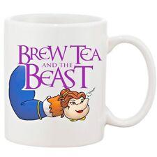 Brew Tea And The Beast Funny Joke Tea Coffee Mug Cup Novelty