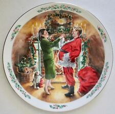 Vintage Royal Doulton Family Christmas Plate Dad Plays Santa 1991