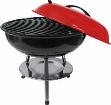 "14"" Portable Kettle Charcoal Bbq Grill / 14 Inch Kettle Barbecue - Red"
