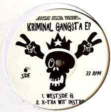 "KRIMINAL GANGSTA - Kriminal Gangsta EP (12"") (Promo) (EX/VG)"