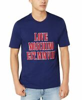 Love Moschino Mens T-Shirt Red Blue Size Small S Graphic Tee Logo $175 #096