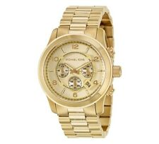 New Michael Kors Runway Gold Chronograph Stainless Steel MK8077 Men's Watch