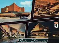 BERLIN PHILHARMONIE PHILHARMONICA BUILDING EXTERIOR & INTERIOR GERMAN POSTCARD