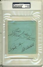 MICKEY MANTLE 1951 NEW YORK YANKEES SIGNED ROOKIE CUT PSA/DNA SLABBED