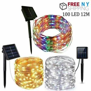 10M 100LED Copper Wire String Fairy Light Strip Lamp Xmas Party Waterproof