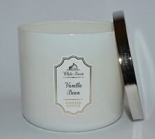 NEW BATH & BODY WORKS VANILLA BEAN SCENTED CANDLE 3 WICK 14.5OZ LARGE WHITE BARN
