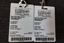 U2 Berlin am 13.11.2018, Nachholkonzert,Unterrang Reihe 3 (2xPlatin Tickets)