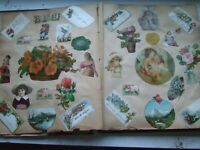 Antique Victorian Scrapbook Ephemera Vintage Paper Craft Diecut Flowers Cards ++