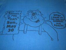 8TH ANNUAL PIG ROAST VINTAGE 80S TEE SHIRT 8TH ANNUAL PIG ROAST