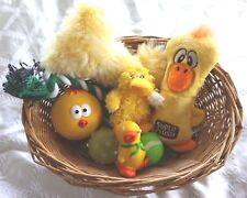 EASTER DOG TOY GIFT BASKET SUITABLE FOR SMALL DOGS AND PUPPIES OVER 4 MONTHS