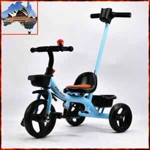 Prams With Push Handle Kids Children Tricycle Bike Trike Ride-On Toys KTR2134