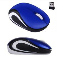New  2.4 GHz Wireless Optical Cute Mini Mouse Mice For PC Laptop Notebook Blue
