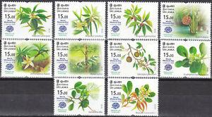 Sri Lanka New Issue 2020-02-03 (Set 2218-2227) Flowers